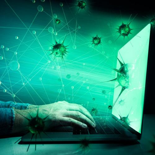 attacco e diffusione virus informatico